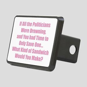 Political Sandwich Pink Rectangular Hitch Cover
