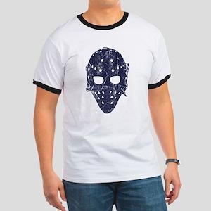 Vintage Hockey Goalie Mask (dark) Ringer T