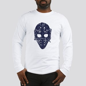 Vintage Hockey Goalie Mask (dark) Long Sleeve T-Sh