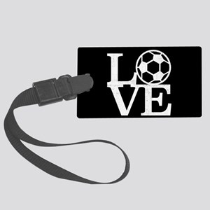 Love Soccer Large Luggage Tag
