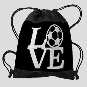 Love Soccer Drawstring Bag