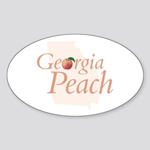 Georgia Peach State Oval Sticker