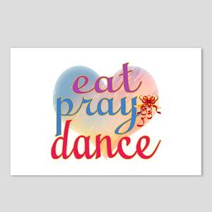 Eat Pray Dance Postcards (Package of 8)