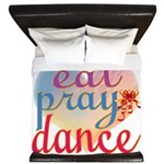 Eat Pray Dance King Duvet