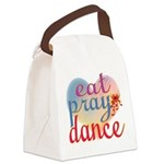Eat Pray Dance Canvas Lunch Bag