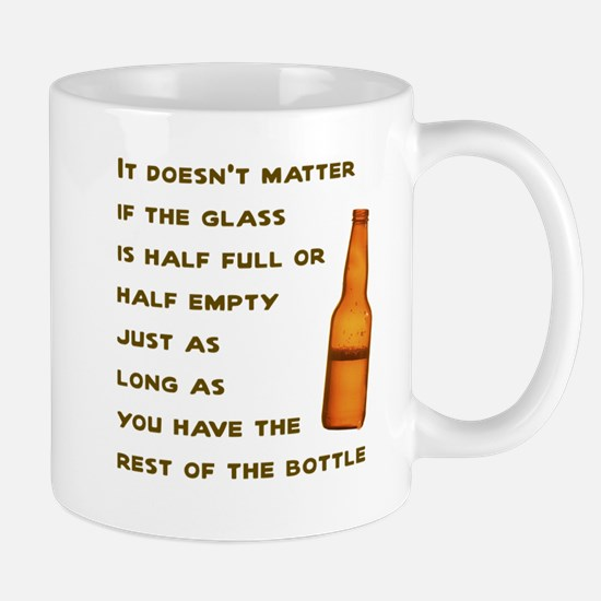 It doesn't matter if the glass half full or empty