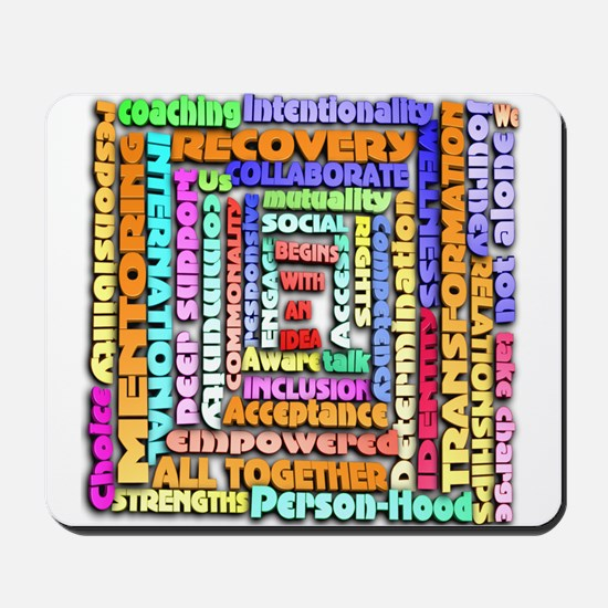 Words of Recovery Mousepad