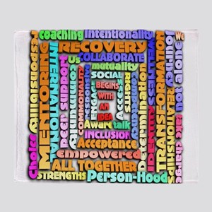 Words of Recovery Throw Blanket