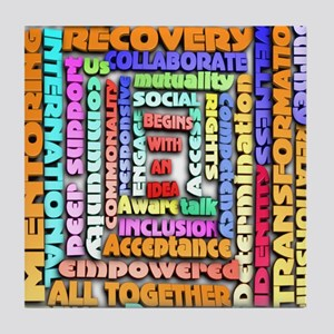 Words of Recovery Tile Coaster