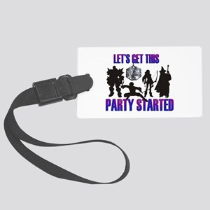 Party Started Large Luggage Tag