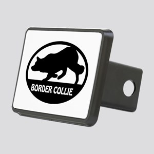 Border Collie Oval Rectangular Hitch Cover