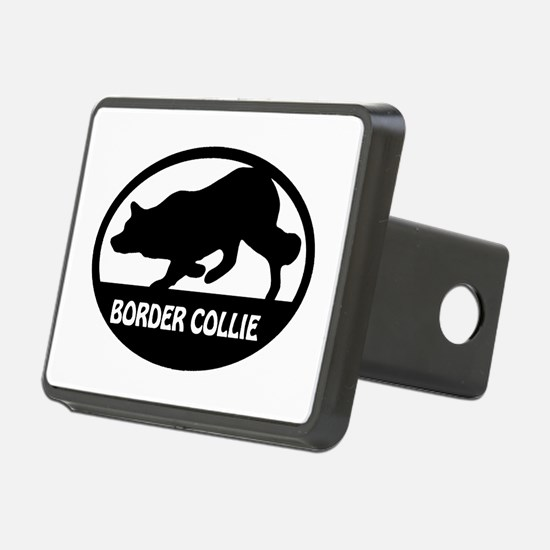 Border Collie Oval Hitch Cover