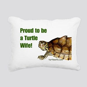 Proud to be a Turtle Wife Rectangular Canvas Pillo
