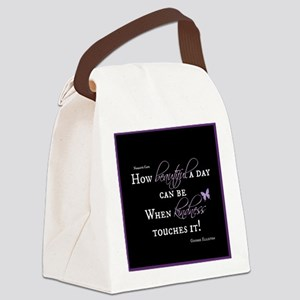 Beautiful Day with Kindness Canvas Lunch Bag