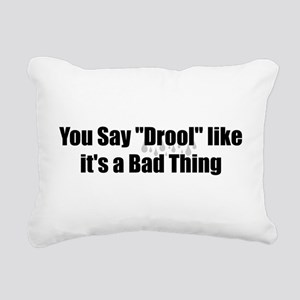 Drool Rectangular Canvas Pillow
