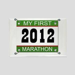 My First Marathon Bib - 2012 Rectangle Magnet