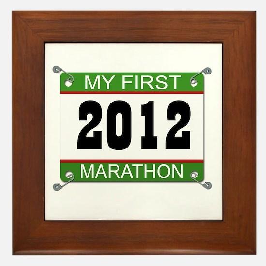 My First Marathon Bib - 2012 Framed Tile