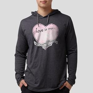 WirehairedPointLoveIsdark Mens Hooded Shirt