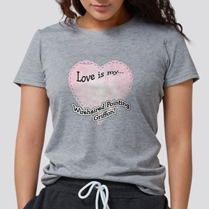 WirehairedPointLoveIsdark Womens Tri-blend T-Shirt