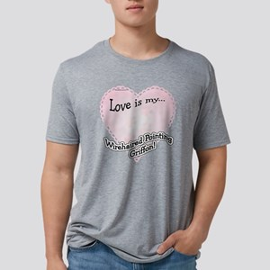 WirehairedPointLoveIsdark.p Mens Tri-blend T-Shirt