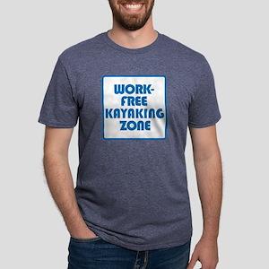 Work Free Kayaking Zone Mens Tri-blend T-Shirt