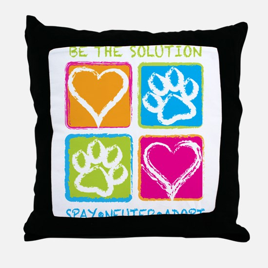 Be The Solution Squares Throw Pillow