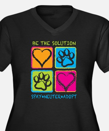 Be The Solution Squares Women's Plus Size V-Neck D