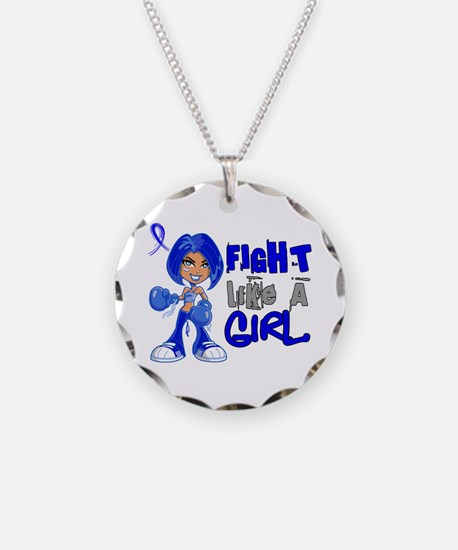 Licensed Fight Like a Girl 4 Necklace
