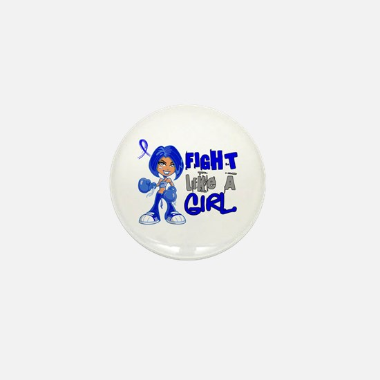 Licensed Fight Like a Girl 42.8 Colon Mini Button