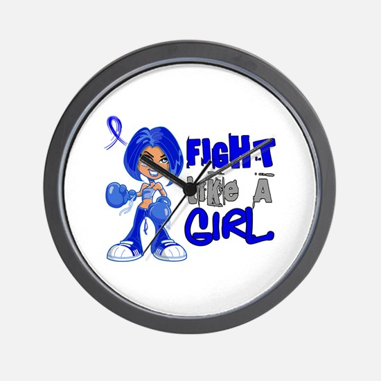 Licensed Fight Like a Girl 42.8 Colon C Wall Clock
