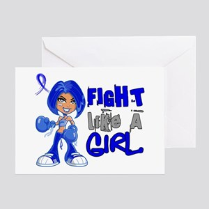 Licensed Fight Like a Girl 42.8 Colo Greeting Card