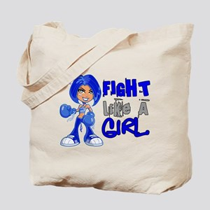 Licensed Fight Like a Girl 42.8 Colon Can Tote Bag