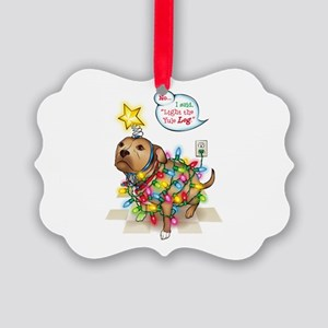 Yule Dog Picture Ornament