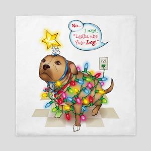 Yule Dog Queen Duvet
