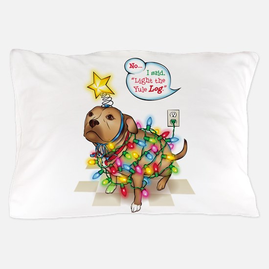 Yule Dog Pillow Case