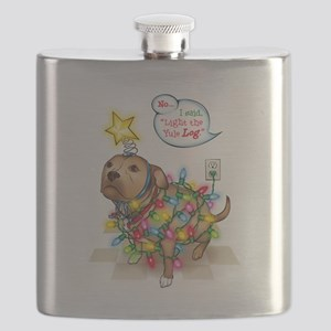 Yule Dog Flask