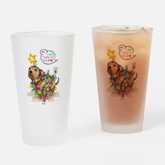 Yule Dog Drinking Glass