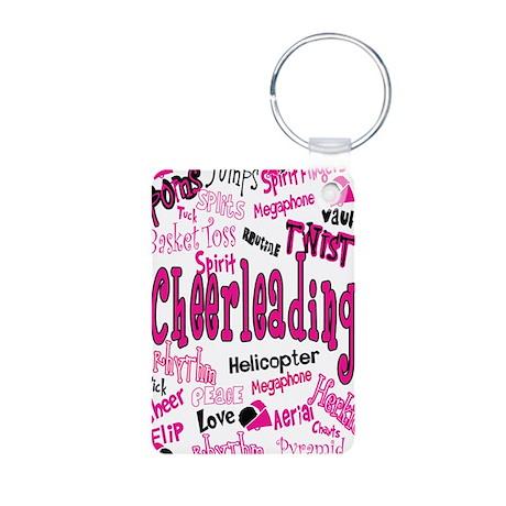 cheerleading Aluminum Photo Keychain