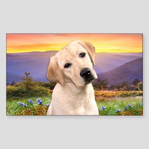 Labrador Meadow Sticker (Rectangle)
