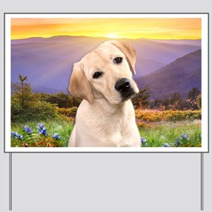Labrador Meadow Yard Sign