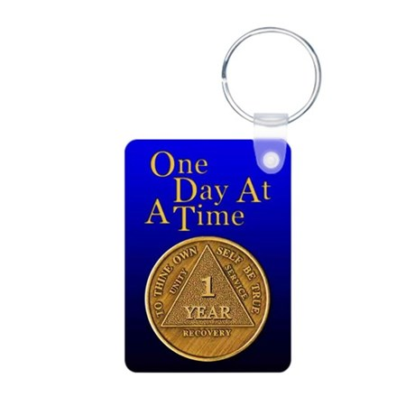 1-Year Chip Aluminum Photo Keychain