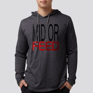 Mid Or Feed Mens Hooded Shirt