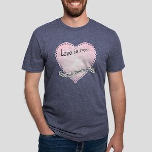 ScottishDeerLoveIsdark Mens Tri-blend T-Shirt