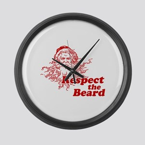 Respect the Beard Large Wall Clock
