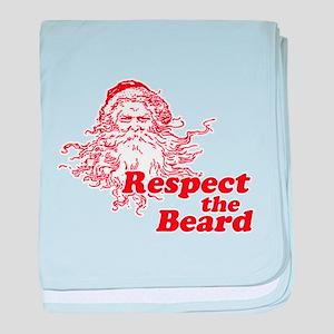 Respect the Beard baby blanket