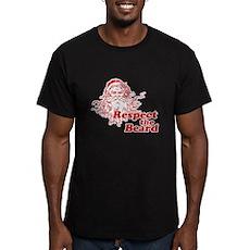 Respect the Beard Men's Fitted T-Shirt (dark)