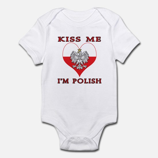 Kiss Me I'm Polish Infant Bodysuit