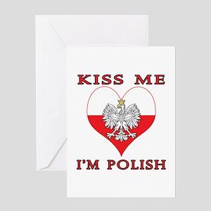 Kiss Me I'm Polish Greeting Card