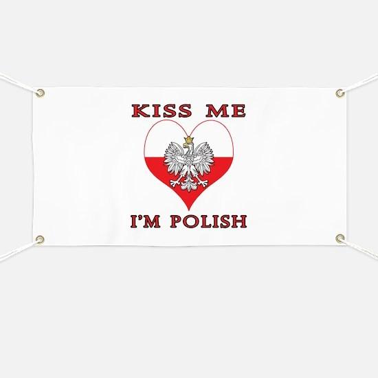 Kiss Me I'm Polish Banner