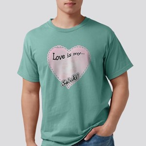 SalukiLoveIsdark Mens Comfort Colors Shirt